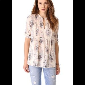 Rebecca Taylor Pintucked Paisley Top Large